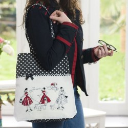 "Lin : Grand Sac ""Mademoiselle en rouge"""