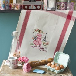Aïda « Un jour à Paris au Printemps » Tea towel