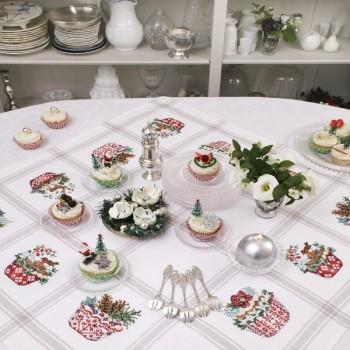 Aïda « Cupcakes de Noël » Tablecloth