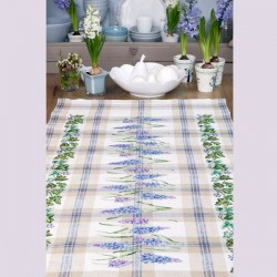Linen: « Muscari » Table runner