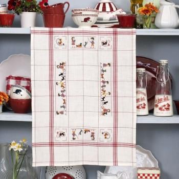 Linen «Mistigris» Tea towel