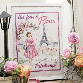 Linen: «Un jour à Paris au printemps» Half kit