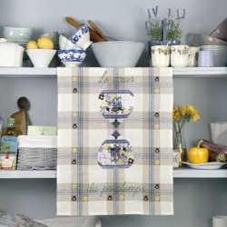Linen «Spring Heart» Tea towel