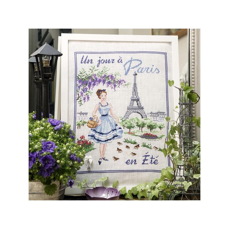 Linen: «Un jour à Paris en été» Half kit