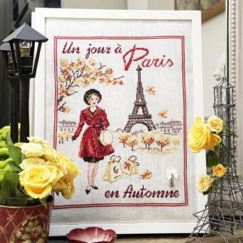 Aïda : Un jour à Paris en automne à broder au point de croix