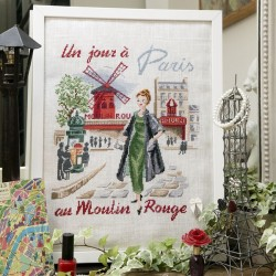 Linen « Un jour à Paris au Moulin rouge » Half kit