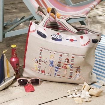 Linen : Maxi bag «Biarritz»