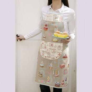 Lin : Tablier de couture « Pâtissier » à broder au point de croix