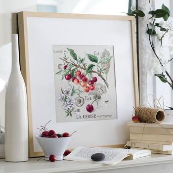 Linen « Cherry » Study (maxi pattern)