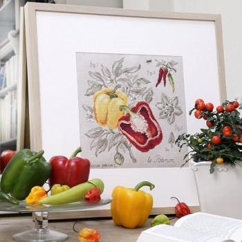 Linen « Pepper » Study (maxi pattern)
