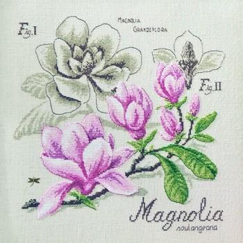 Aïda : Étude Magnolia (maxi-grille) à broder au point de croix