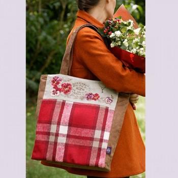 Linen: Handbag «Fleurs de France»