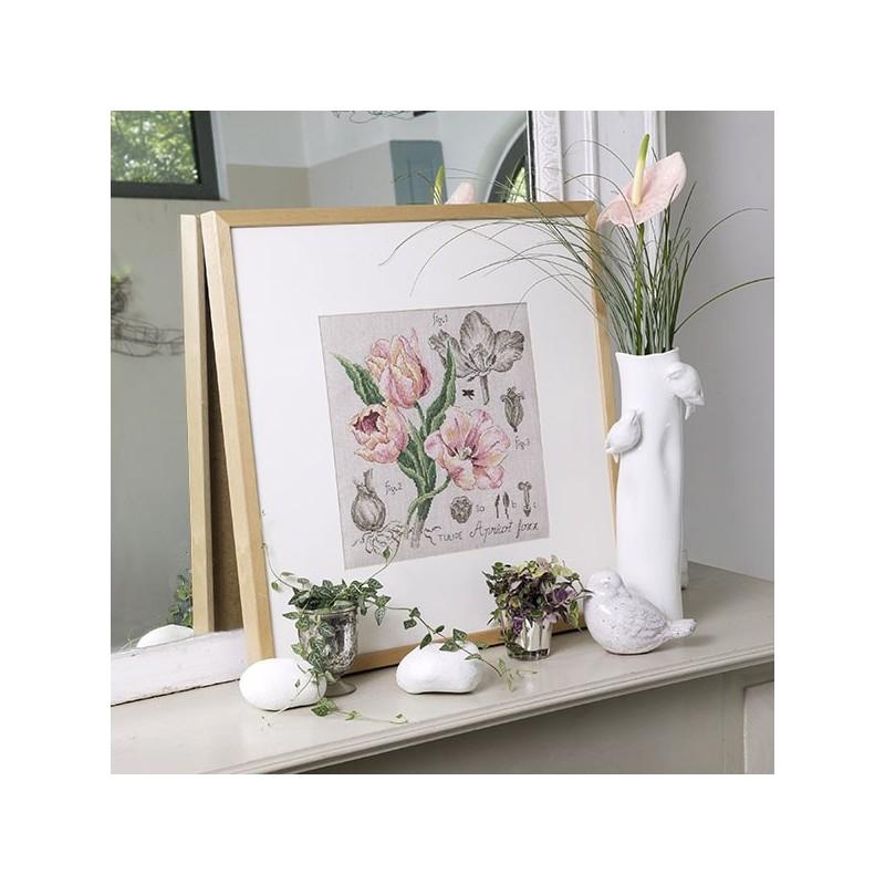 Aïda : Étude à la Tulipe (maxi-grille) à broder au point de croix