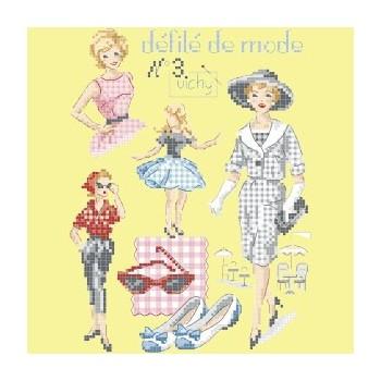 Grille : Défilé de mode N°3 «Vichy»