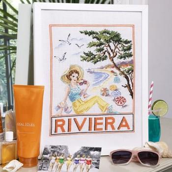 Lin : «Riviera» à broder au point de croix