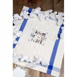 Aïda « Tiny snowflakes » Tea towel