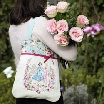 Linen «Flower garden» Handbag