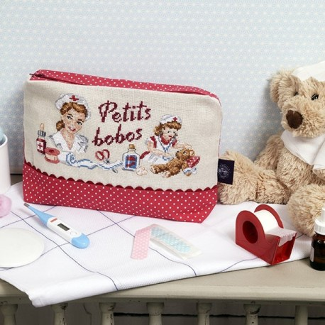 Linen « Little tumbles » First aid pouch