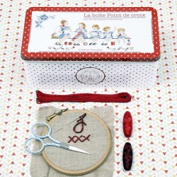 The cross-stitch box