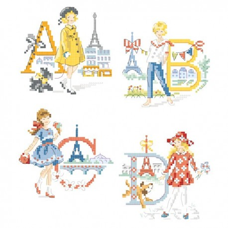 «The Parisian girls » Alphabet Chart