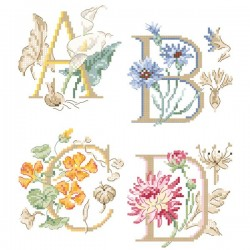 The big « Botanical » Alphabet chart