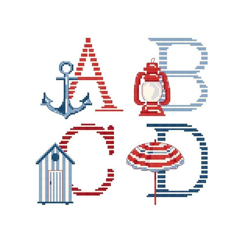 Le grand ABC «Rivages» à broder au point de croix