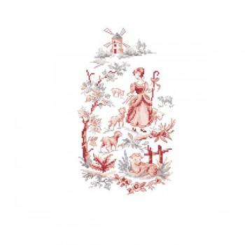 Grille « La bergère » Rouge
