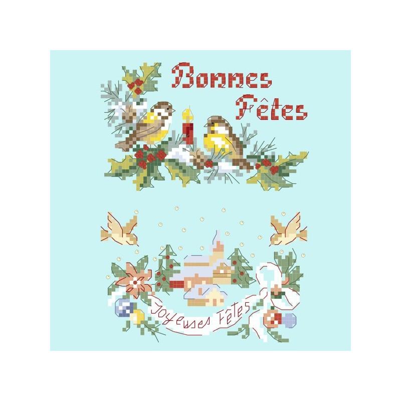 image carte de voeux « Greetings cards » 2 charts   Les Brodeuses Parisiennes