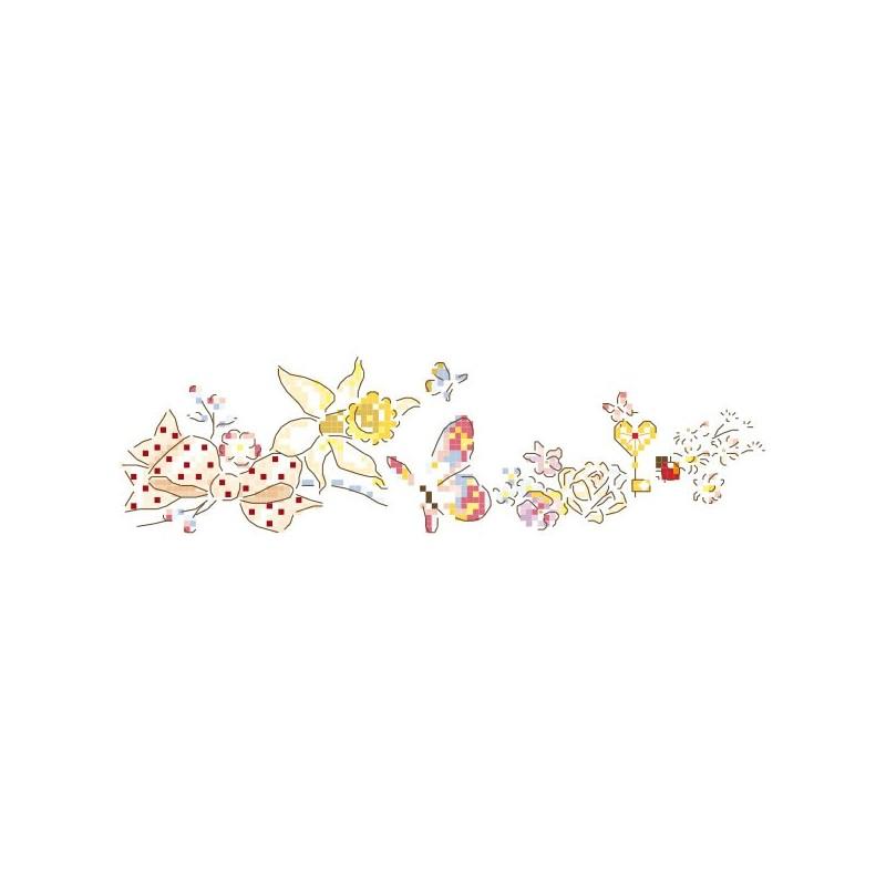 Grille « Jonquille et papillons »