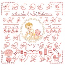 The little pink « Baby » Alphabet chart