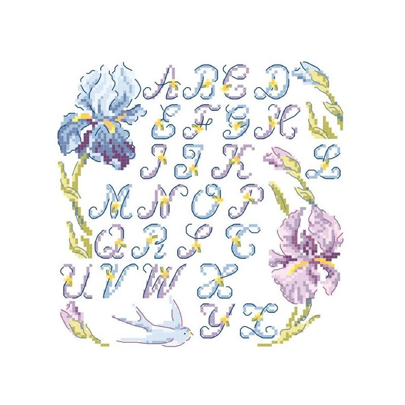 The little « Iris » Alphabet chart