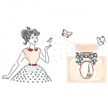 Grille « Mademoiselle se parfume »
