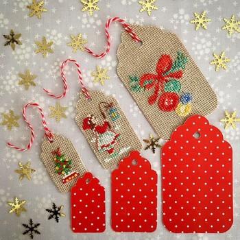 Semi-kit 6 etiquettes cadeaux « Noël »