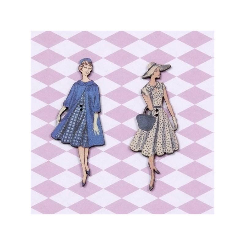 2 boutons « Jacqueline et Martine »