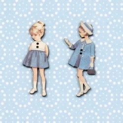 2 buttons « Annie and Sophie »
