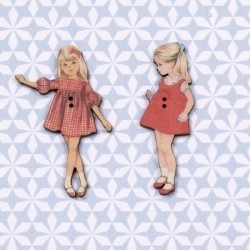 2 buttons « Caroline and Claudine »