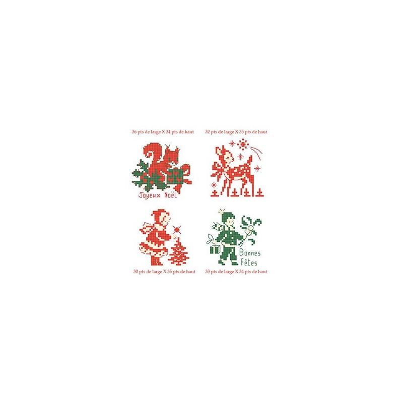 Grille « Petit Noël » en rouge et vert
