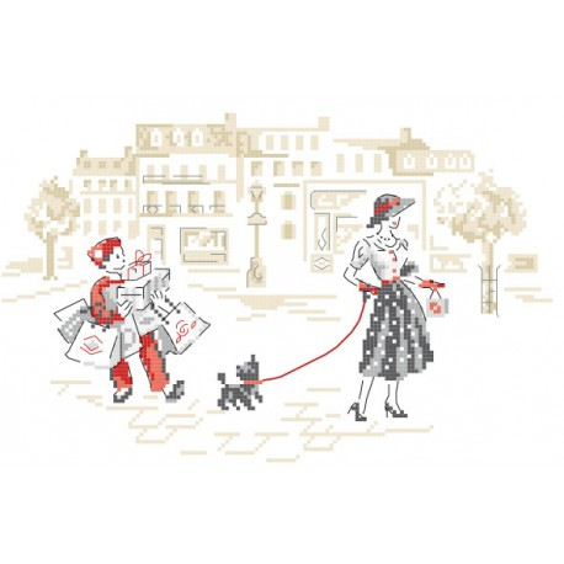 « La dame au petit chien » Pattern