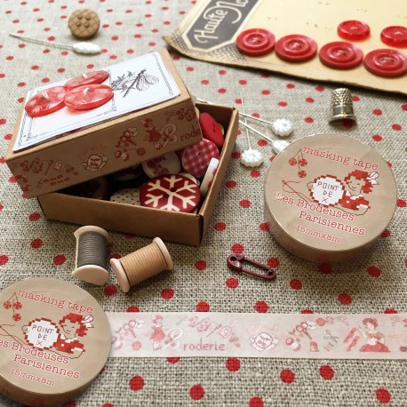 2 Masking tapes « Broderie  »
