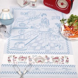 Aïda « Menu du jour » Tea towel