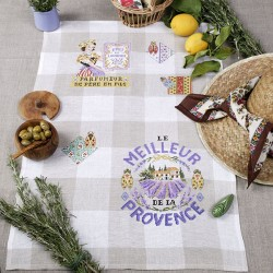 Linen « Lavander water  » Tea towel