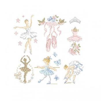 Grille « Petite histoire de ballerine»