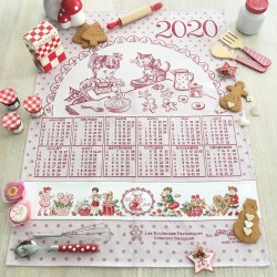 Aïda « Calendar 2020 » Tea towel