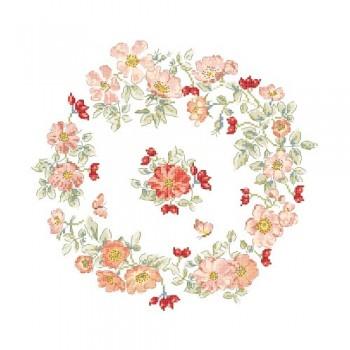 «Wild raspberry wreath» Chart