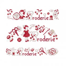3 grilles « Rosy brode »