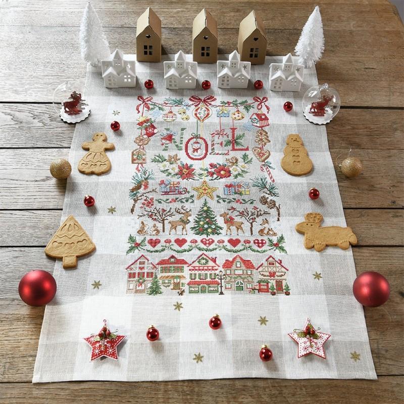 Lin : Torchon « Imagier de Noël »