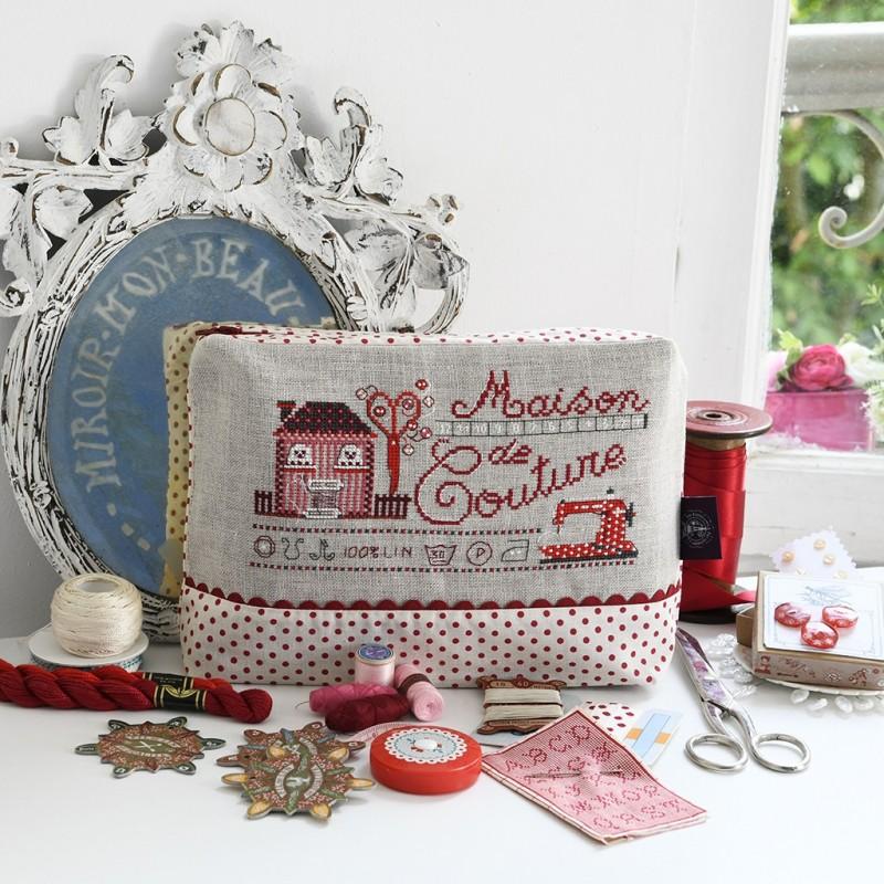 Linen «Maison de couture» Maxi pouch