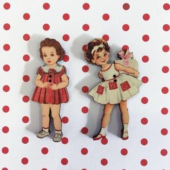 2 boutons « Annette et Lucette »