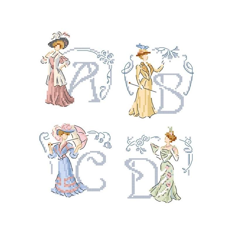 « Belle époque » Alphabet Chart