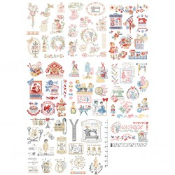 A special embroidery story in 80 different charts